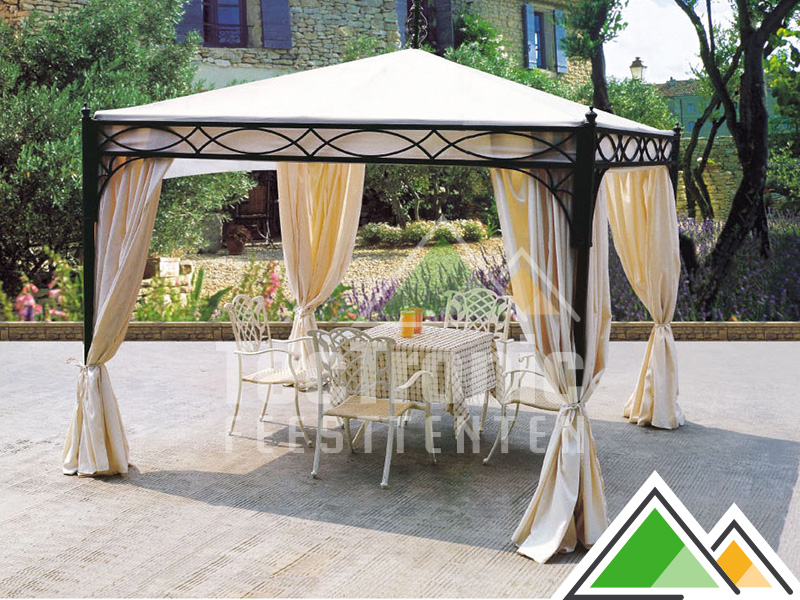 pavillon romantique en taille 3x3 m pour votre jardin ou terrasse. Black Bedroom Furniture Sets. Home Design Ideas
